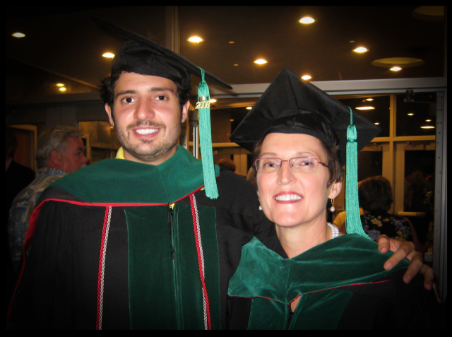 Greg Miday, M.D., and his mother, Karen Miday, M.D.