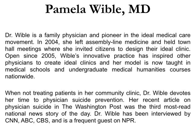 Physician Suicide 101: Secrets, Lies & Solutions | Pamela