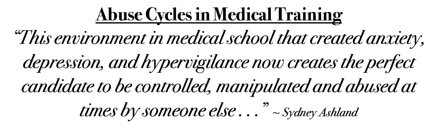 Abuse Cycles Medical Education