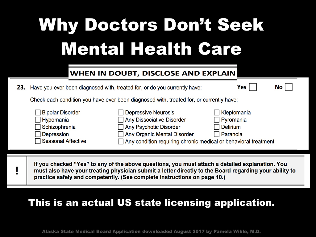 Medical License Application Stigma