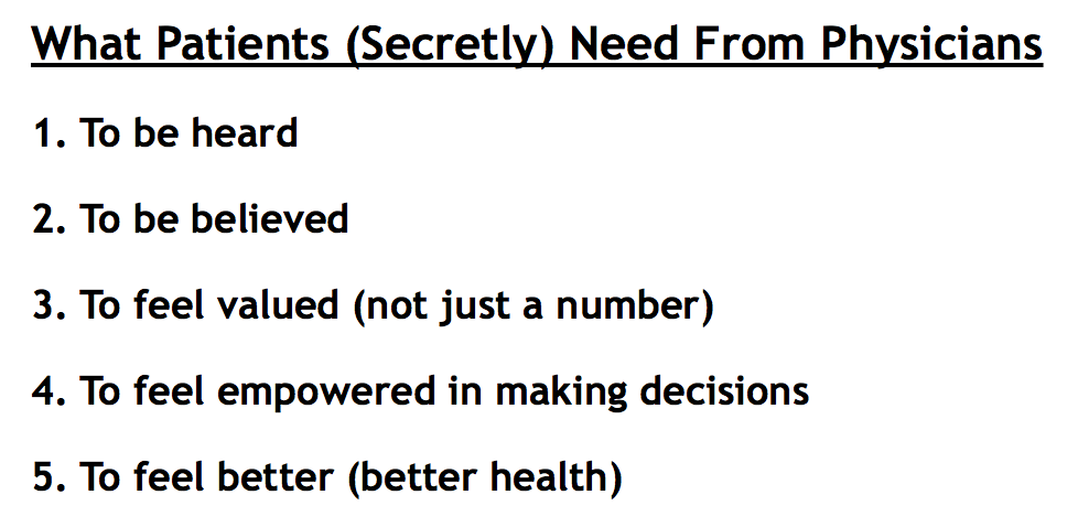 What Patients Need From Physicians