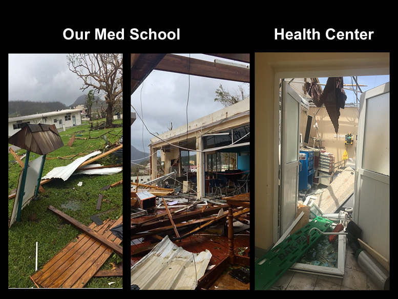 Medical School Destroyed by Hurricane
