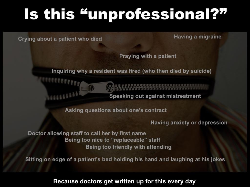 Unprofessional\
