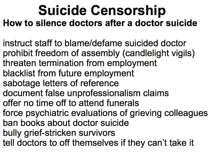 How hospitals censor doctor suicides & silence survivors