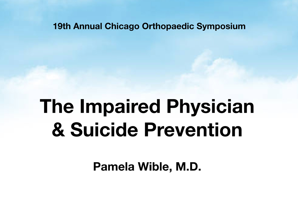 33 Orthopaedic Surgeon Suicides How To Prevent 34