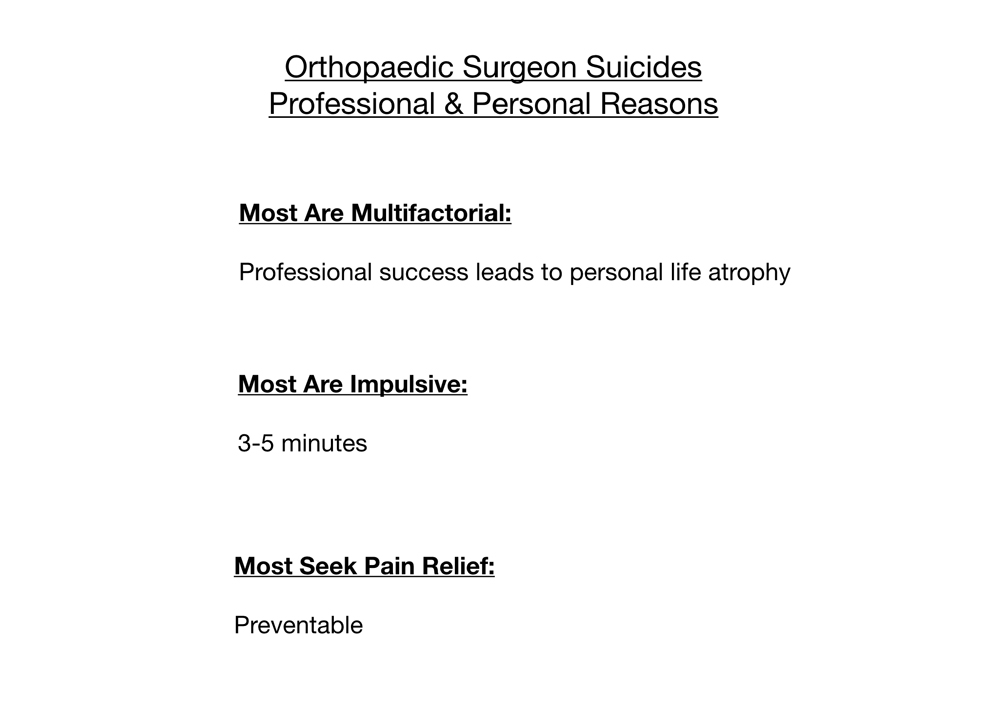 33 orthopaedic surgeon suicides  How to prevent #34  | Pamela Wible MD