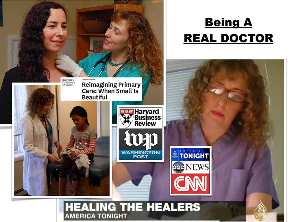 And these are just little clips from news articles and shows because people  find it really interesting when they meet a real happy doctor.