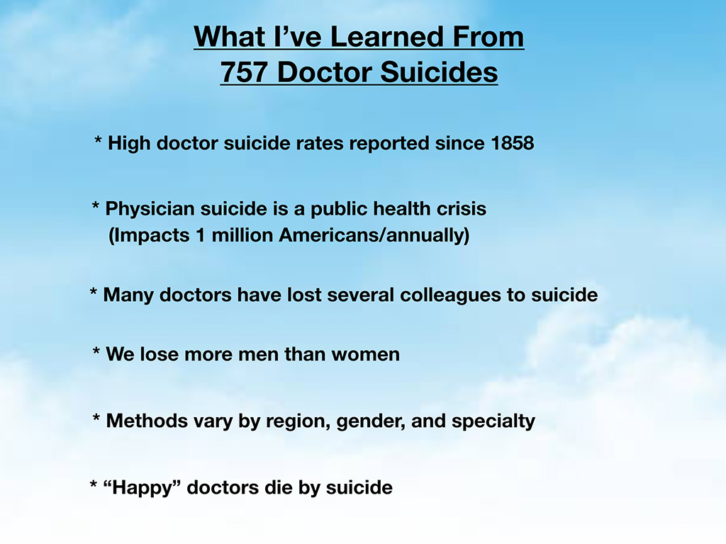 Keynote: Physician Suicide—Prevention & Intervention   Pamela Wible MD